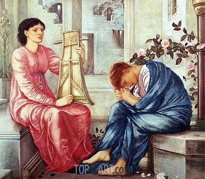 The Lament, 1866 | Burne-Jones | Painting Reproduction