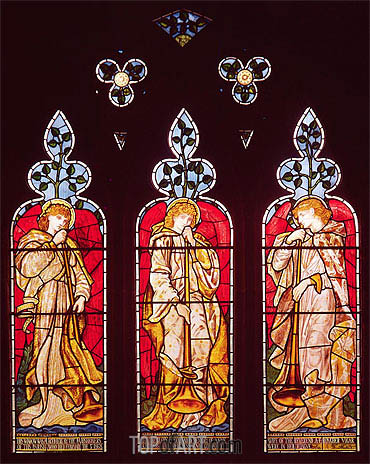 Three Trumpeting Angels,  | Burne-Jones| Painting Reproduction