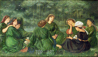 Green Summer, 1864 | Burne-Jones | Gemälde Reproduktion