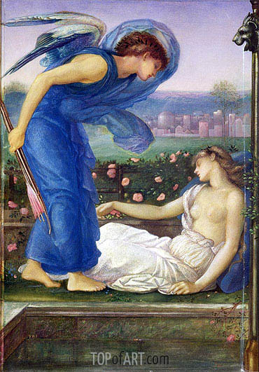 Cupid and Psyche, c.1865 | Burne-Jones| Gemälde Reproduktion
