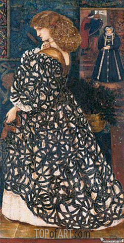 Sidonia von Bork, 1860 | Burne-Jones| Painting Reproduction