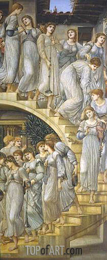 The Golden Stairs, 1880 | Burne-Jones | Gemälde Reproduktion