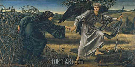 Love and the Pilgrim, c.1896/97 | Burne-Jones | Painting Reproduction