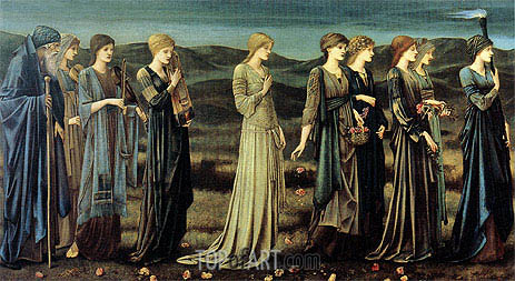 The Wedding of Psyche, c.1894/95 | Burne-Jones| Painting Reproduction