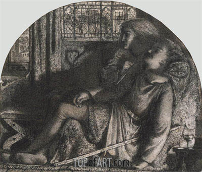 I Rose Up in the Silent Night: I made my Dagger Sharp and Bright, c.1859/60 | Burne-Jones | Painting Reproduction