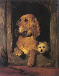 Dignity and Impudence, 1839 by Landseer | Painting Reproduction
