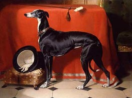 Eos, A Favorite Greyhound of Prince Albert, 1841 von Landseer | Gemälde-Reproduktion