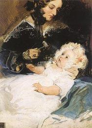 The Duchess of Abercorn and her Daughter, 1834 by Landseer | Painting Reproduction