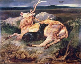 Stag, undated by Landseer | Painting Reproduction