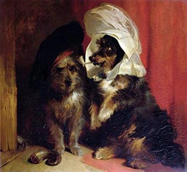 Comical Dogs, 1836 by Landseer | Painting Reproduction