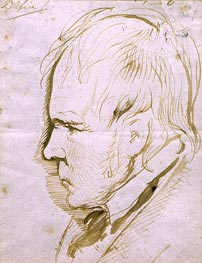 Portrait Sketch of Sir Walter Scott, 1867 by Landseer | Painting Reproduction