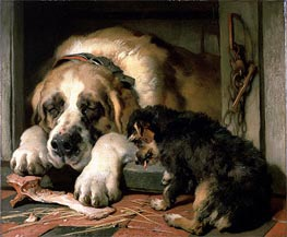 Doubtful Crumbs, c.1858/59 by Landseer | Painting Reproduction