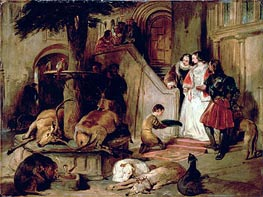 A Courtyard in Olden Times | Landseer | Painting Reproduction