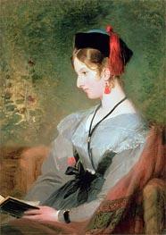 Portrait of Elizabeth Wells, Lady Dyke, undated by Landseer | Painting Reproduction