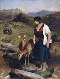 The Highland Lassie | Landseer | Painting Reproduction