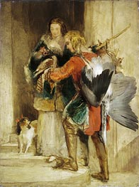 The Falcon, c.1834 by Landseer | Painting Reproduction