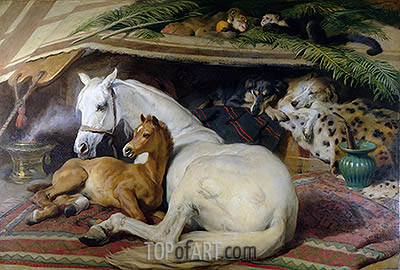 The Arab Tent, 1866 | Landseer| Painting Reproduction