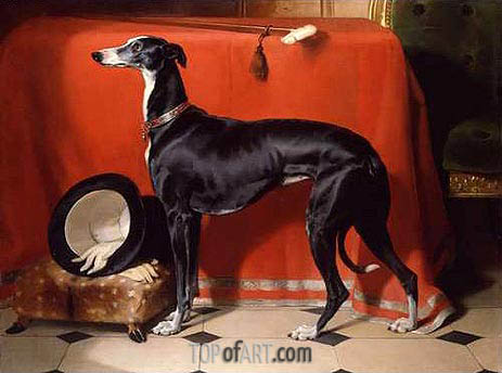Eos, A Favorite Greyhound of Prince Albert, 1841 | Landseer | Painting Reproduction