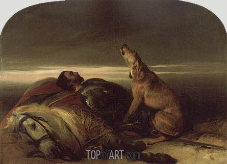 The Faithful Hound, c.1830 | Landseer | Painting Reproduction