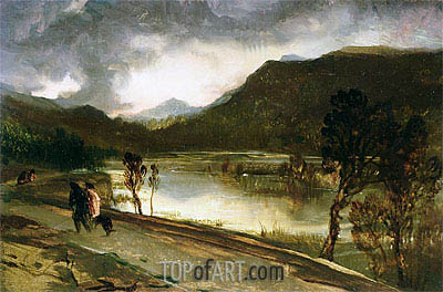 A Highland Loch, undated | Landseer| Painting Reproduction