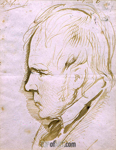 Portrait Sketch of Sir Walter Scott, 1867 | Landseer | Gemälde Reproduktion