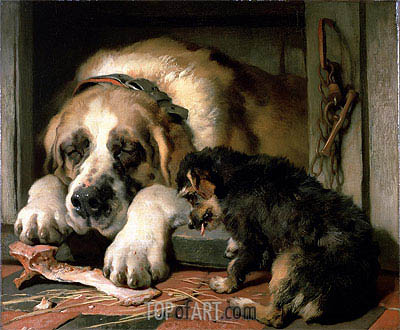 Doubtful Crumbs, c.1858/59 | Landseer | Painting Reproduction