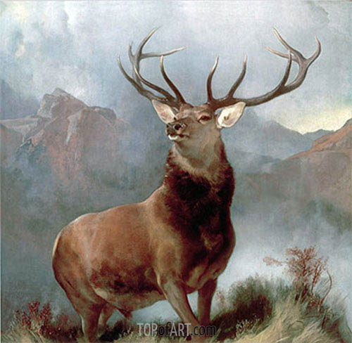 Monarch of the Glen, 1851 | Landseer| Painting Reproduction