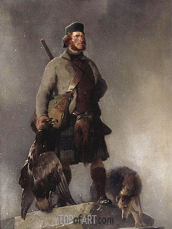 The Highlander, 1850 | Landseer| Gemälde Reproduktion