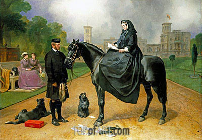 Queen Victoria at Osborne, 1865 | Landseer | Gemälde Reproduktion
