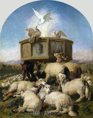 The Baptismal Font, c.1870 | Landseer | Painting Reproduction