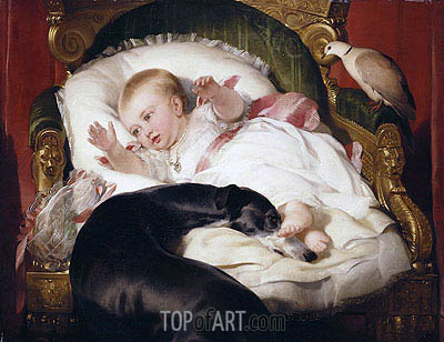 Victoria, Princess Royal with Eos, 1841 | Landseer| Painting Reproduction