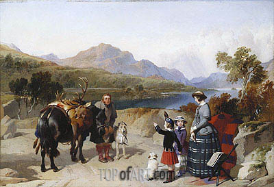 Queen Victoria at Loch Laggan, 1847 | Landseer| Painting Reproduction