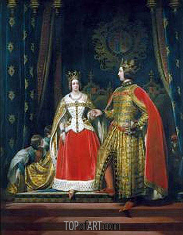 Landseer | Queen Victoria and Prince Albert at the Bal Costume of 12 May 1842, c.1842/46