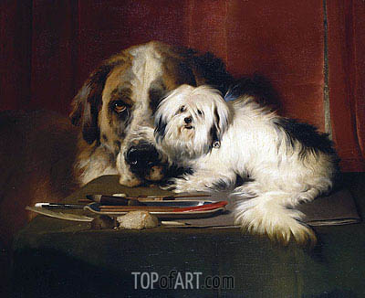 Quiz, 1839 | Landseer | Painting Reproduction