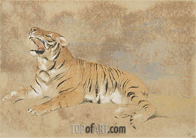 Tiger, undated | Landseer | Painting Reproduction