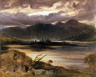 Lake Scene, a.1830 | Landseer| Painting Reproduction
