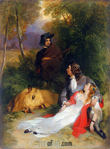 The Bride of Lammermoor, a.1830 | Landseer| Gemälde Reproduktion