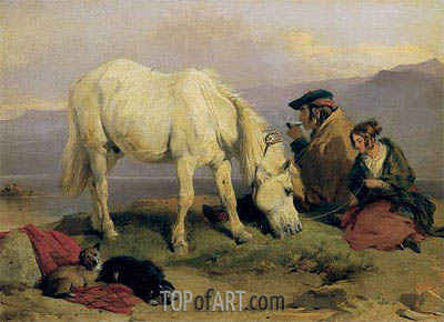 A Highland Scene, c.1834 | Landseer | Painting Reproduction