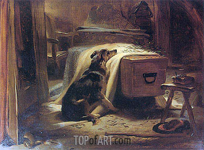 The Old Shepherd's Chief Mourner, 1837 | Landseer | Painting Reproduction