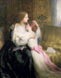 The Mother, 1907 by Frank Dicksee | Painting Reproduction