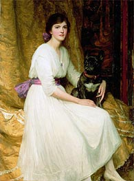 Portrait of Miss Dorothy Dicksee | Frank Dicksee | Painting Reproduction