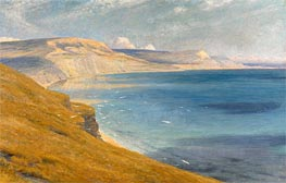 Sea and Sunshine, Lyme Regis, 1919 by Frank Dicksee | Painting Reproduction