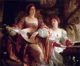The Duet, undated by Frank Dicksee | Painting Reproduction