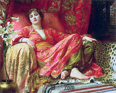 Leila (Passion), 1892 | Frank Dicksee| Painting Reproduction