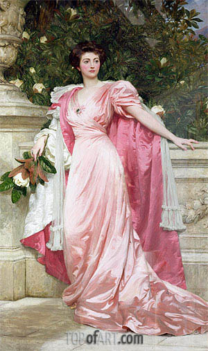 Constance Duchess of Westminster, 1906 | Frank Dicksee | Painting Reproduction