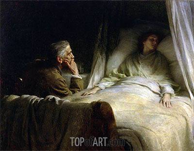 The Crisis, 1891 | Frank Dicksee| Painting Reproduction