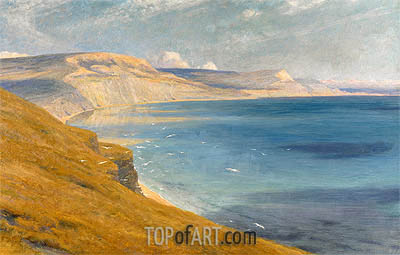 Sea and Sunshine, Lyme Regis, 1919 | Frank Dicksee| Painting Reproduction