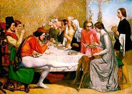Lorenzo and Isabella, 1849 von Millais   Gemälde-Reproduktion