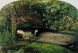 Ophelia, c.1851/52 by Millais | Painting Reproduction