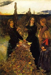 Autumn Leaves, c.1855/56 by Millais | Painting Reproduction